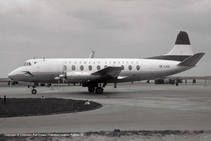 OE-LAD Austrian Airlines Vickers Viscount Srs 779D (sn 252)